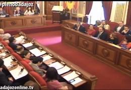 Pleno extraordinario de diciembre de 2014 del Ayuntamiento de Badajoz