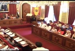 Pleno ordinario de julio de 2014 del Ayuntamiento de Badajoz