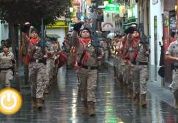 La lluvia no impidió celebrar el acto de retreta militar