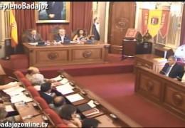 Pleno extraordinario de septiembre de 2014 del Ayuntamiento de Badajoz
