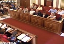 Pleno ordinario de septiembre de 2014 del Ayuntamiento de Badajoz