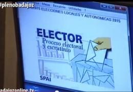 Pleno extraordinario de abril de 2015 del Ayuntamiento de Badajoz