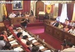 Pleno ordinario y extraordinario de julio de 2015 del Ayuntamiento de Badajoz