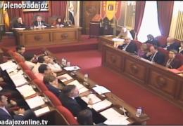 Pleno ordinario de noviembre de 2015 del Ayuntamiento de Badajoz