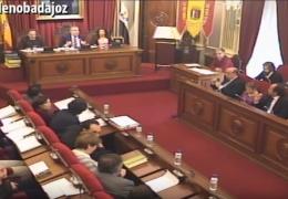 Pleno ordinario de diciembre de 2015 del Ayuntamiento de Badajoz