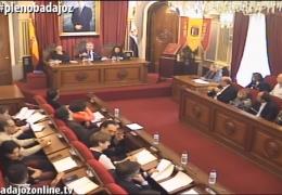 Pleno extraordinario diciembre 2015 del Ayuntamiento de Badajoz