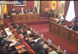 Pleno ordinario de marzo de 2016 del Ayuntamiento de Badajoz