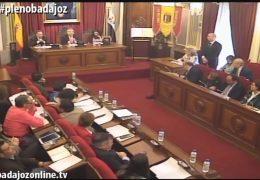 Pleno ordinario de abril de 2016 del Ayuntamiento de Badajoz