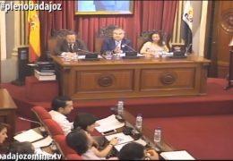 Pleno ordinario de junio de 2016 del Ayuntamiento de Badajoz