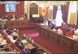Pleno extraordinario de julio de 2016 del Ayuntamiento de Badajoz