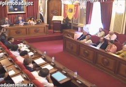 Pleno extraordinario de septiembre de 2015 del Ayuntamiento de Badajoz