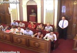 Pleno ordinario de septiembre de 2016 del Ayuntamiento de Badajoz