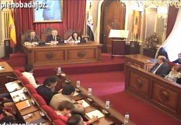 Pleno extraordinario de octubre de 2016 del Ayuntamiento de Badajoz