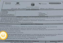 Abierto el plazo de inscripción para el Plan de Empleo Social