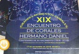 El Teatro López de Ayala acoge el XIX Encuentro de Corales Hermano Daniel