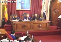 Pleno ordinario de diciembre de 2016 del Ayuntamiento de Badajoz