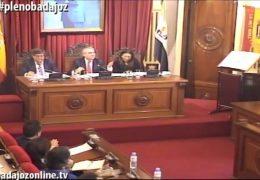 Pleno extraordinario de diciembre de 2016 del Ayuntamiento de Badajoz