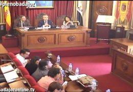 Pleno ordinario de Abril de 2017 del Ayuntamiento de Badajoz