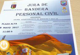 Badajoz acogerá una jura de bandera para personal civil el 28 de mayo