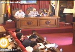 Pleno extraordinario de junio del Ayuntamiento de Badajoz