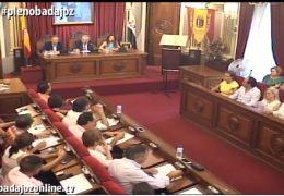 Pleno extraordinario de julio del Ayuntamiento de Badajoz