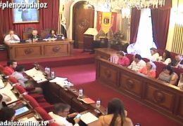 Pleno ordinario de julio de 2017 del Ayuntamiento de Badajoz