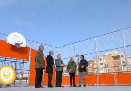 El alcalde visita la nueva zona deportiva de San Roque