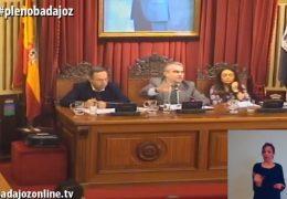Pleno ordinario de febrero de 2018 del Ayuntamiento de Badajoz