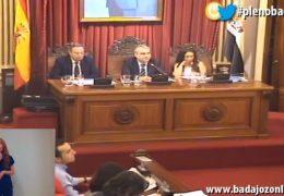 Pleno ordinario de abril de 2018 del Ayuntamiento de Badajoz