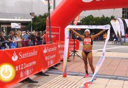 Jesús Núñez y Mercedes Pila ganadores de la media maratón Elvas-Badajoz