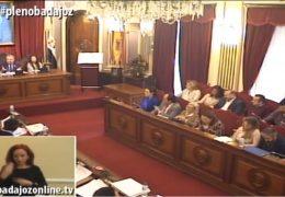 Pleno ordinario de noviembre 2018 Ayuntamiento de Badajoz