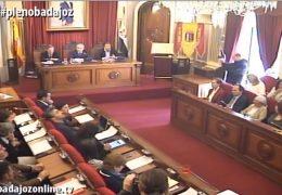 Pleno ordinario de marzo 2019 Ayuntamiento de Badajoz