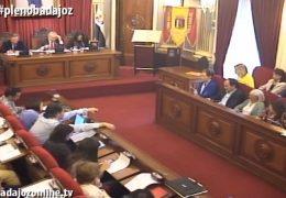 Pleno ordinario de abril del Ayuntamiento de Badajoz 2019