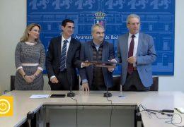 Rueda de prensa alcalde- Firma convenio Fundación CB