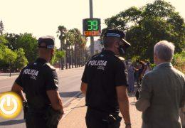 Badajoz ya cuenta con su primer radar pedagógico para concienciar a los conductores