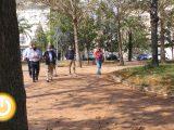 Rueda de prensa alcalde- Visita plaza Jardines del Guadiana