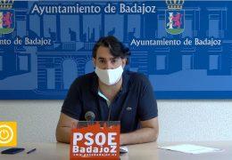 Rueda de prensa PSOE Badajoz sobre Comercio
