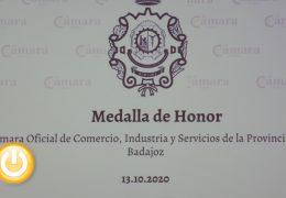 Rueda de prensa- Acto entrega Medalla Honor Cámara Comercio Badajoz
