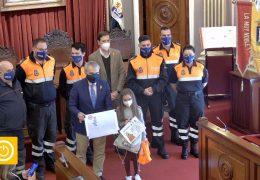 Rueda de prensa alcalde- Premio dibujo homenaje Protección Civil