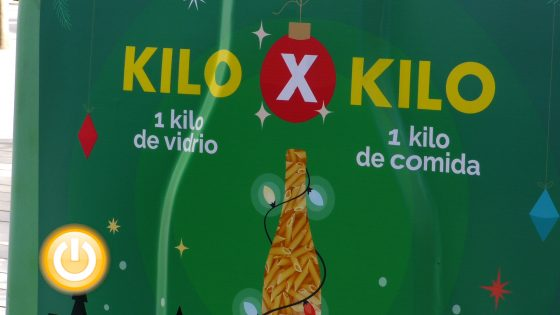 Badajoz inicia la campaña solidaria «1 Kg de vidrio por 1 Kg de alimentos»