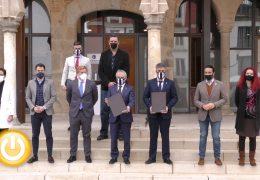 Rueda de prensa alcalde- Convenio cesión C.D Badajoz