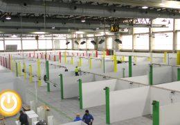La construcción del Hospital de Campaña de Badajoz avanza a toda velocidad