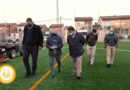 Rueda de prensa alcalde- Remodelación campo fútbol Cerro de Reyes