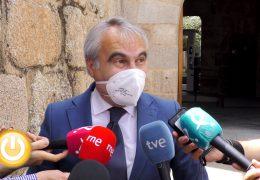 Rueda de prensa Alcalde- Visita Presidente de la Junta de Extremadura
