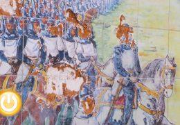 El mural en honor a Alfonso IX sufre un acto vandálico