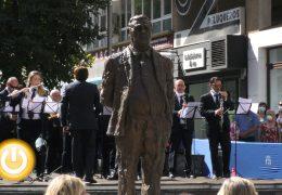 Inauguración de la estatua homenaje a Miguel Ángel Celdrán Matute